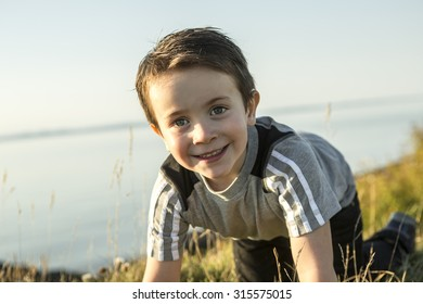 An adorable 5 year old kid portrait