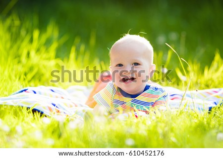e7c7e0f243a2 Adorable Baby Boy Eating Apple Playing Stock Photo (Edit Now ...