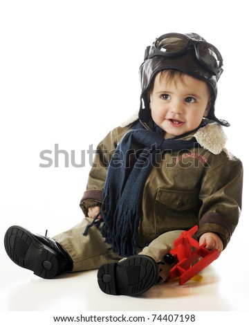 deeb661f2f68 Adorable Baby Boy Oldfashioned Pilots Cap Stock Photo (Edit Now ...