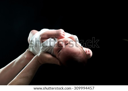 Adorable beautiful newborn baby