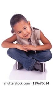 Adorable child sitting