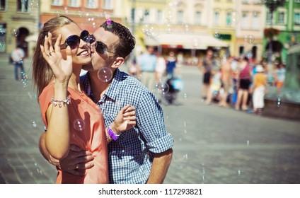 Adorable couple on a sunny day