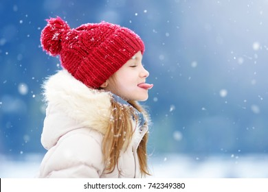 Image result for paintings snowflake falling on a child's tongue