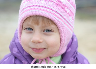 Adorable little girl looking  at the camera