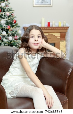 Adorable Little Girl New Years Eve Stock Photo Edit Now 743685568
