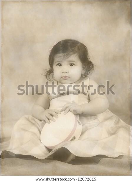 Adorable little girl on her birthday