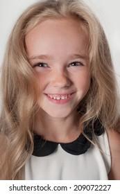 Adorable little girl in white