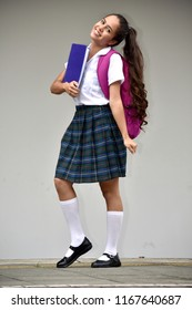 Adorable School Girl