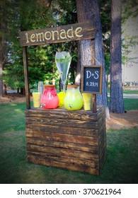 An adorable summer lemonade stand.