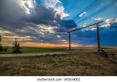 Adorable Sunset in Regina - Saskatchewan - Canada