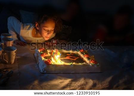 Adorable Teen Girl Celebrating Her Birthday Stock Photo Edit Now