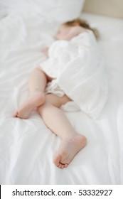 Adorable toddler girl's sweet little feet