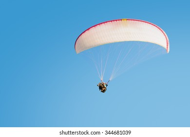 Adrenaline impressions and freedom feeling emotions paragliding tandem flights extremal active sport