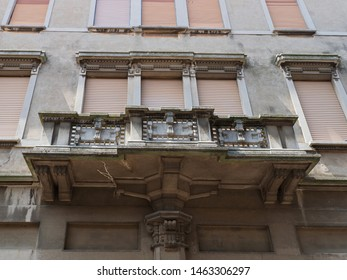 Adria, Italy. Art Deco style building from 1914.