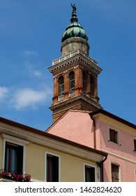 Adria, Italy. Bell tower of the cathedral, rebuilt in 1686.