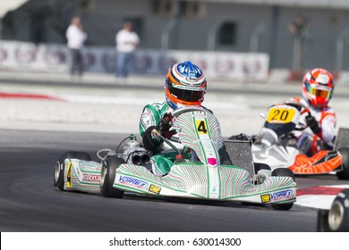 Adria, Rovigo (Italy) - October 1, 2016: Tony Kart Racing Team, driven by Piccini Alessio,  during eliminatory heat in the Wsk Final Cup in Adria Karting Raceway, Italy.