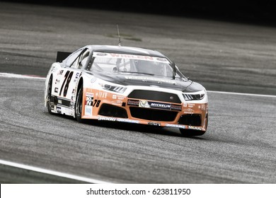 Adria, Rovigo, Italy - September 17, 2016: Brass Racing Team, driven by De Weerdt,  during race at the Nascar Whelen Euro Series Elite 1 in Adria International Raceway.