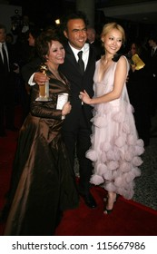 Adriana Barraza with Alejandro Gonzalez Inarritu and Rinko Kikuchi at the Paramount Pictures 2007 Golden Globe Awards After-Party. Beverly Hilton Hotel, Beverly Hills, CA. 01-15-07