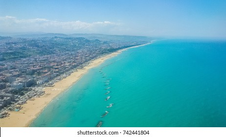 Adriatic Coastline above Pescara,Italy