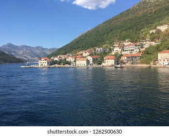 The Adriatic ocean and small village