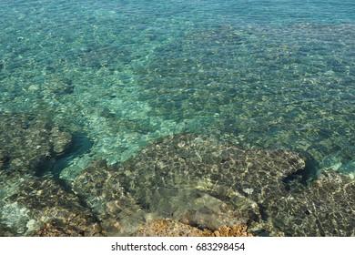Adriatic sea in Kamenjak Peninsula,Croatia