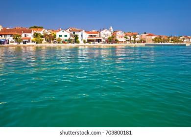 Adriatic Town of Petrcane waterfront, Dalmatia, Croatia