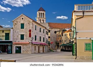 Adriatic Town of Vodice promenade, Croatia
