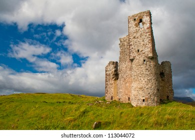 Adrvreck Castle, on the shores of Loch Assynt, Scotland