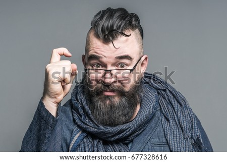 Adult Bearded Man Mohawk Hairstyle Showing Stock Photo Edit Now