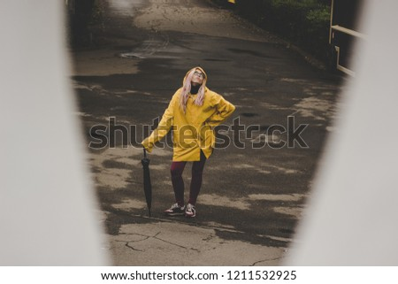 adult girl in yellow