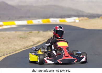 Adult Go Kart Racer on Track