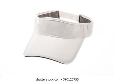 Adult golf white visor on white background