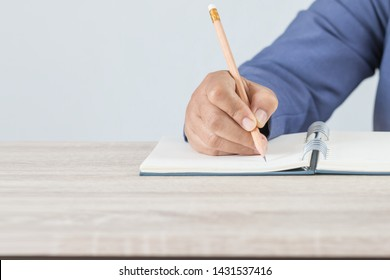 Adult learning for student university study in class, hand note lecture in notebook for exam. Adults education is practice in engage systematic, sustained self-educating activities in knowledge skills