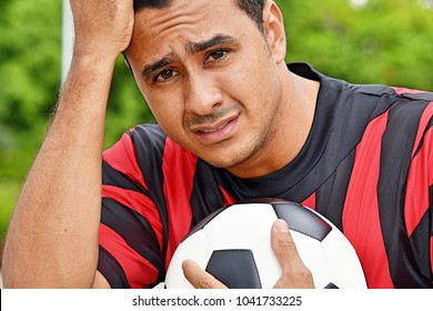 Adult Male Soccer Player And Stress
