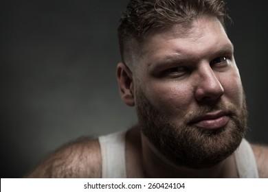 Adult man with beard