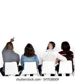 Adult People Friendship Sit Together Studio