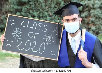 Adult student graduating in 2020