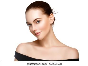 Adult woman portrait, skin care concept, beautiful skin.