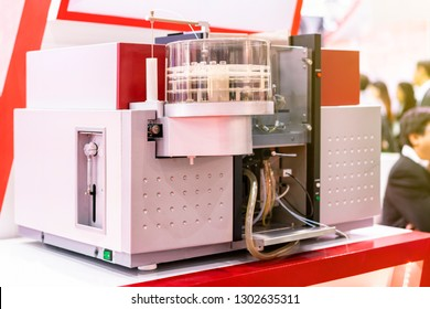 Advance technology Atomic Absorption Spectrophotometer device of lab for analysis chemical element by absorption optical radiation for industrial food medicine nutraceuticals agriculture chemical etc.