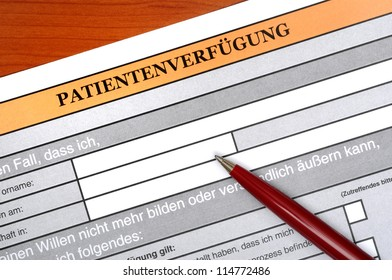 Advanced directives (= Patientenverfuegung) are very important today