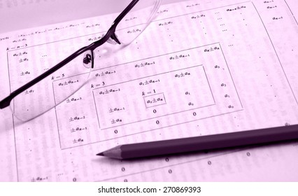 Advanced maths and physics in vintage style