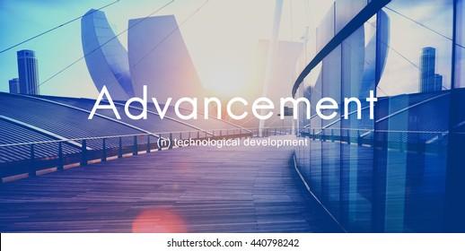 Advancement Technology Futuristic Innovation Development Concept