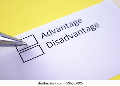Advantage or disadvantage? Advantage.