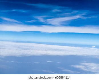 Advantages of traveling by airplane If you are sitting by the window you will see beautiful sky at thirty thousand feet.