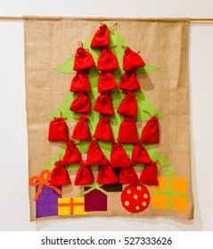 Advent Calendar with red bags