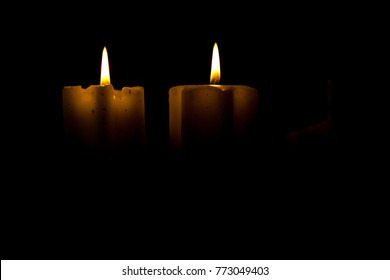 Advent candles, Christmas candles background.