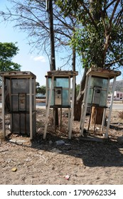 With the advent of cell phones, old fashioned payphones died an ungainly death by vandals in Zimbabwe