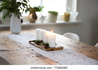 Advent decoration with four candles