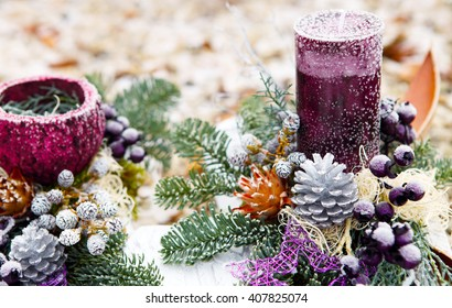 Advent flower arrangement