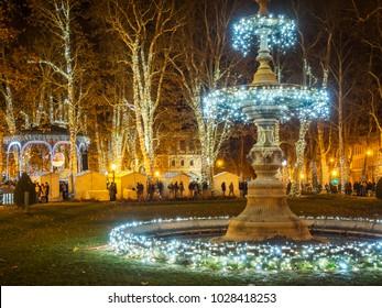 Advent market in Zagreb, Croatia